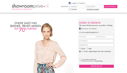 Website Showroomprive.nl